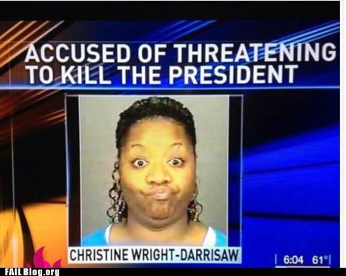 fail nation g rated mugshot obama Probably bad News stupid criminals - 6064895744