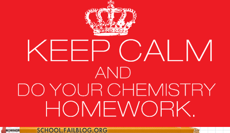 Chemistry,homework,keep calm