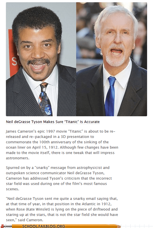 james cameron,Neil deGrasse Tyson,titanic