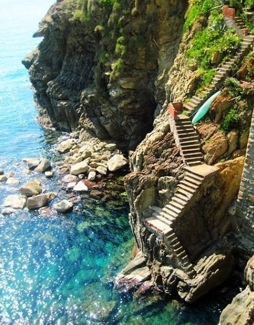 cliffs sea stairs - 6065161728