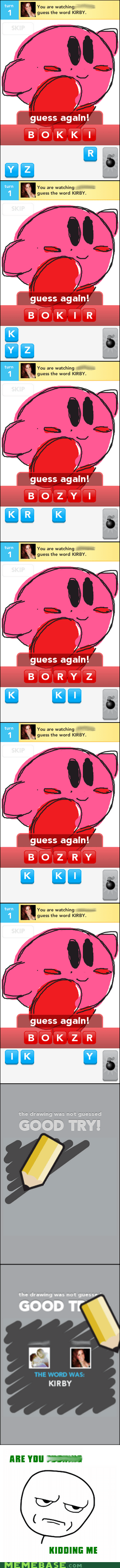 are you kidding me,draw,game,kirby