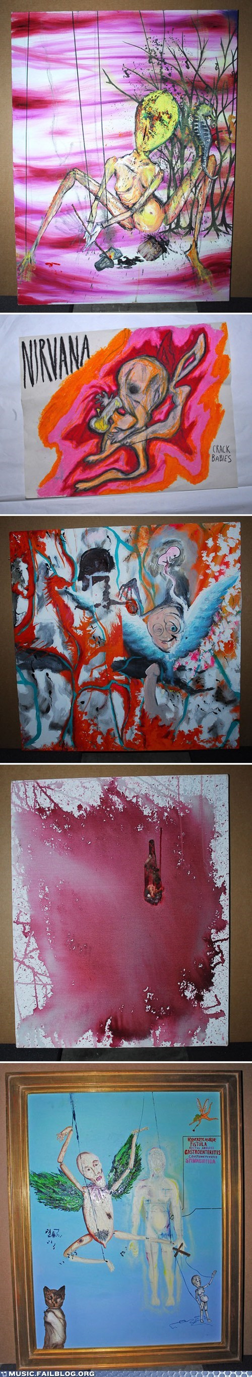 art kurt cobain nirvana - 6065297920