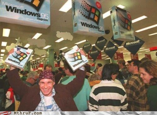 Bill Gates,good old days,microsoft,nostalgia,vista,windows,windows 7,Windows 95,xp