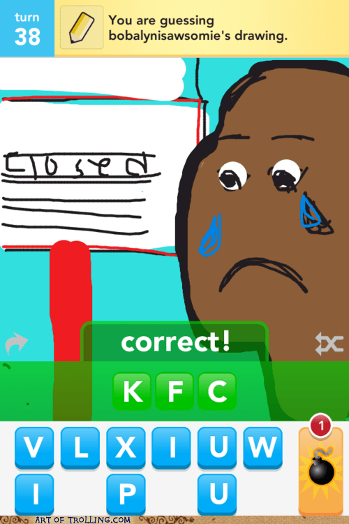 draw something kfc racism - 6065387264