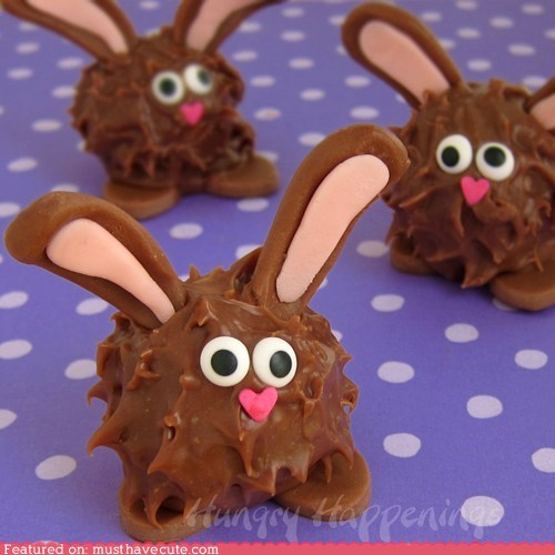 bunnies chocolate ears easter epicute face sweets Truffles - 6065438464