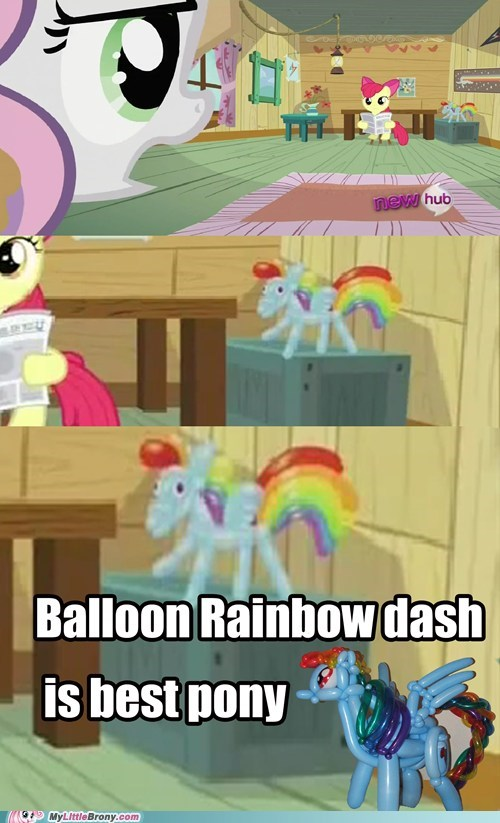 balloon dash best pony meme nyan dash rainbow dash - 6065501440