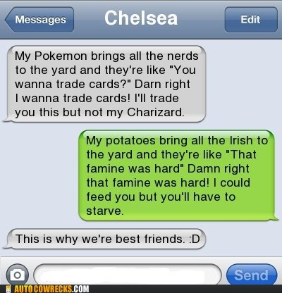 Potatoes and Pokemon