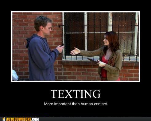 Felicia Day,human contact,Neil Patrick Harris,texting