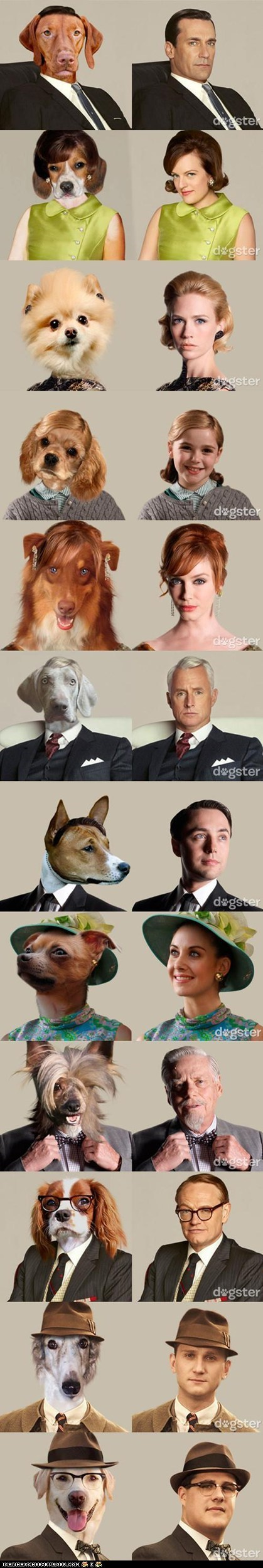 characters dogs mad men multipanel photoshopped TV - 6065637120