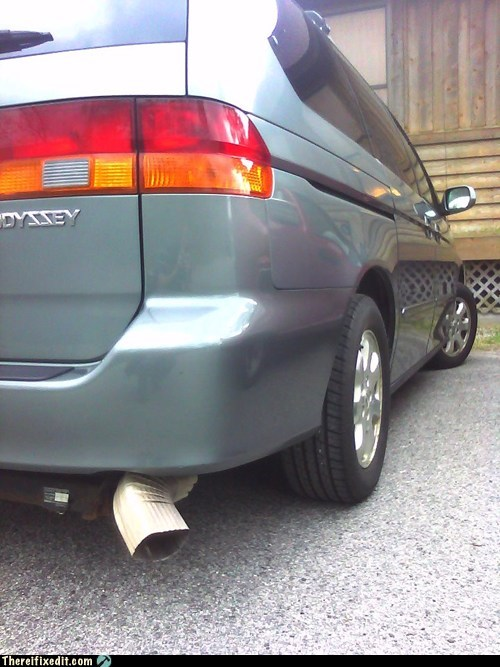exhaust gutter honda odyssey minivan muffler redirect - 6065673472