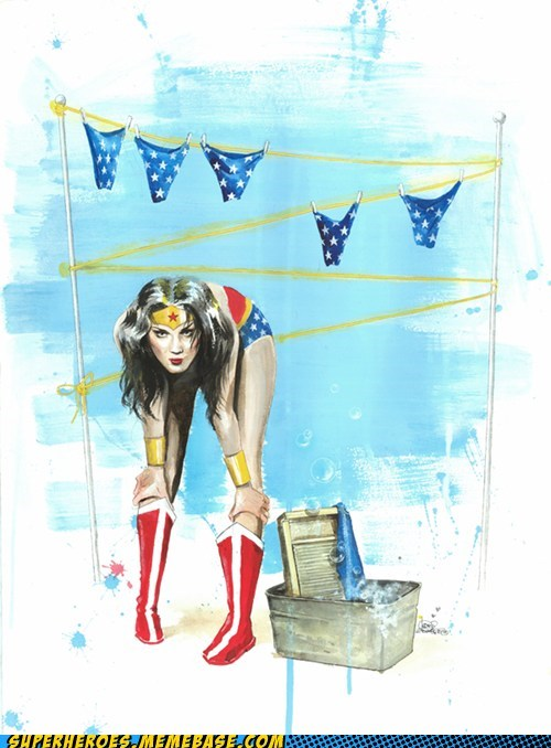 Awesome Art panties Sexy Ladies wonder woman - 6065724672