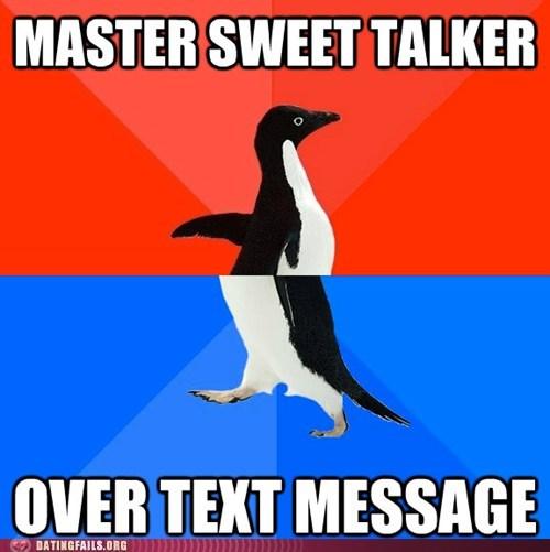 socially awkward penguin texting - 6065888256