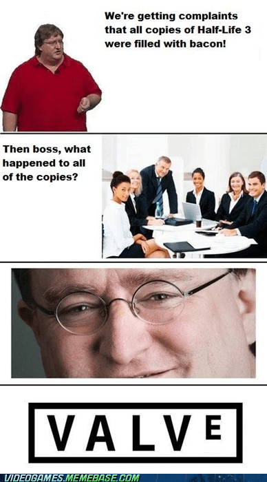 bacon comic gabe newell half life valve - 6065940480