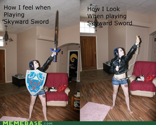 Close Enough IRL Skyward Sword wii wiimote zelda - 6065992448