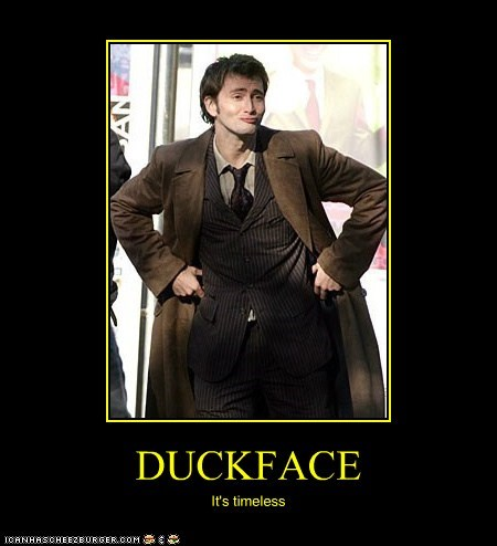David Tennant doctor who duckface the doctor timeless