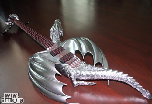 dragon guitar Hall of Fame metal Music nerdgasm - 6066157312