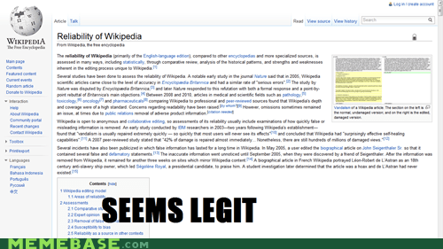 acquired credible proof seems legit wikipedia