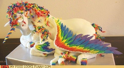 awesome best of the week cake giant horse pegacorn rainbow wings - 6066278912