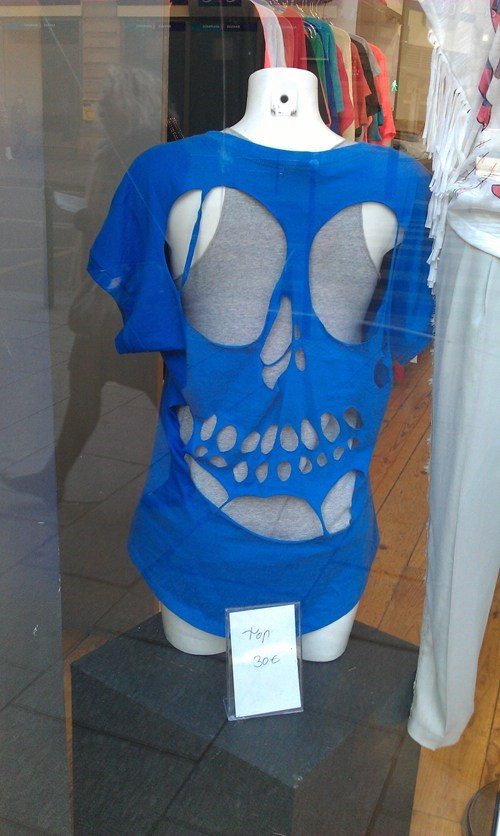 fashion shirt skull torn what - 6066360320