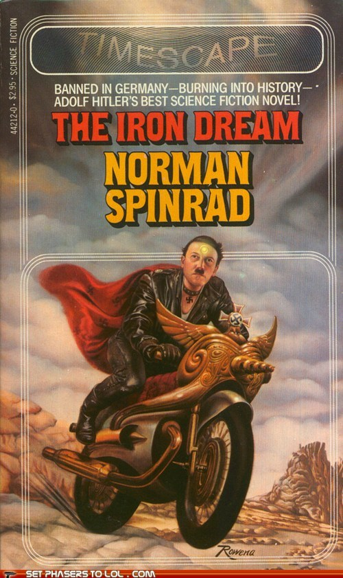 adolph hitler,book covers,books,cover art,motorcycle,science fiction,wtf
