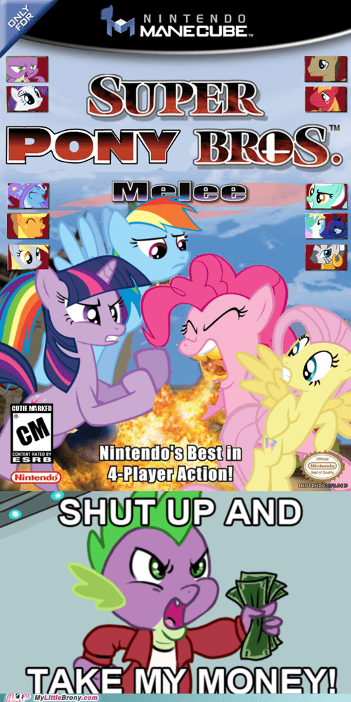 crossover mane six meme pinkie pie shut up and take my money super smash bros - 6066798080