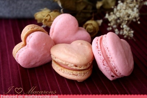 cookies,epicute,filling,french,hearts,macarons