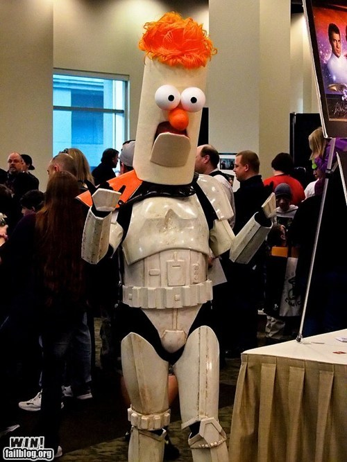 beaker,cosplay,fandom,muppets,nerdgasm,star wars