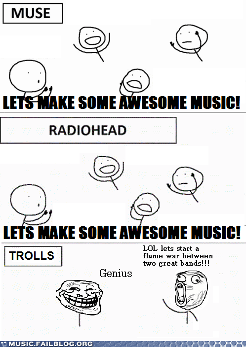muse radiohead trolling trolls - 6067721472