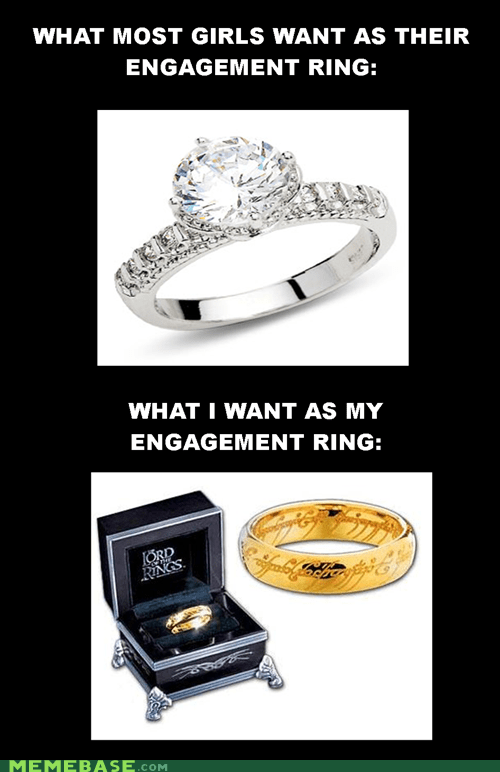 engagement,It Came From the Interwebz,Lord of the Rings,ring