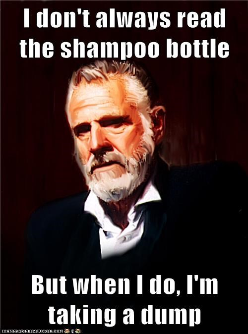 cereal box poop reading shampoo the most interesting man in the world - 6068562688