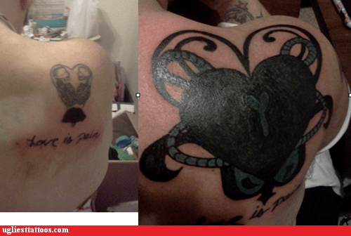 black heart cover up love is pain - 6068588800