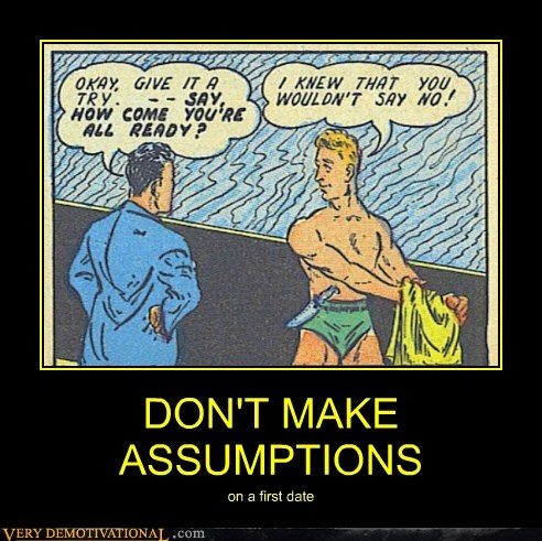 assumptions,first date,hilarious,swim suit,wtf