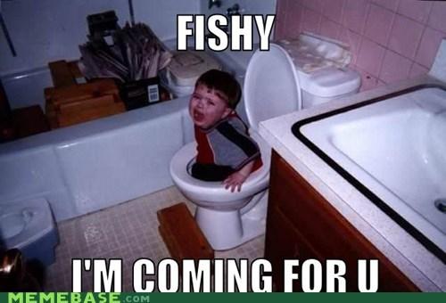 fish flush kids Memes toilet - 6068690176