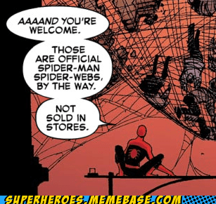 Spider-Man Straight off the Page webs - 6068812032