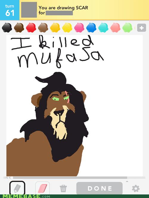 disney draw something lion king Memes mufasa scar star wars - 6069050112