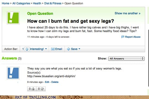 body image,fat,Yahoo Answer Fails,you are what you eat