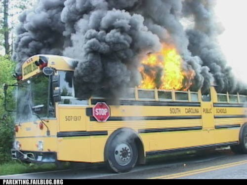 fire flame magic school bus matchstick school bus