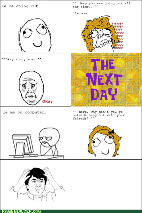 mom,Okay,Rage Comics,wtf