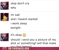 dont-cry facebook chat genitalia