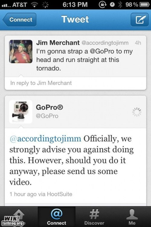 bad idea camera dangerous g rated tornado tweet win - 6069742080