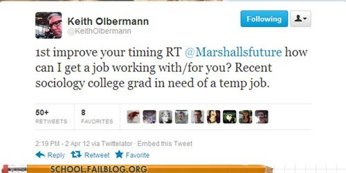 improve your timing keith olbermann no job for you socioloty - 6069743872
