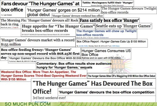 debut headlines Movie news newspaper novels obvious Suzanne Collins hunger games too easy