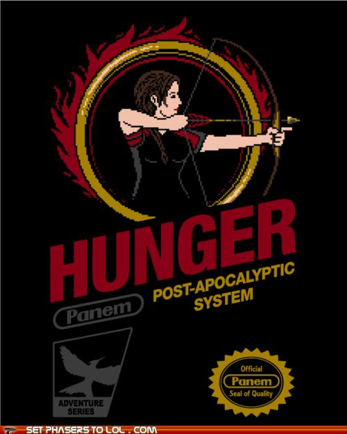 8 bit box art hunger games katniss everdeen NES nintendo panem post apocalyptic - 6070233600