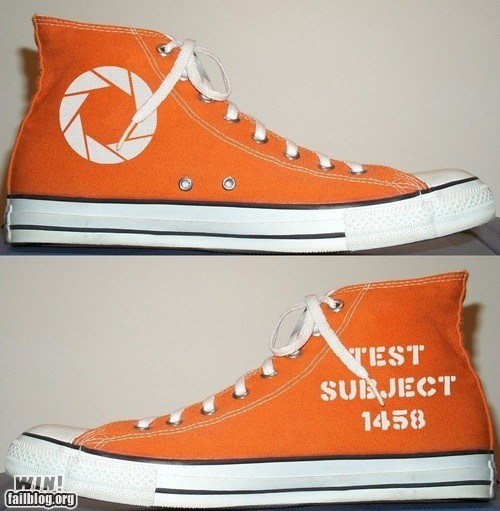 converse,custom,DIY,g rated,nerdgasm,Portal,win