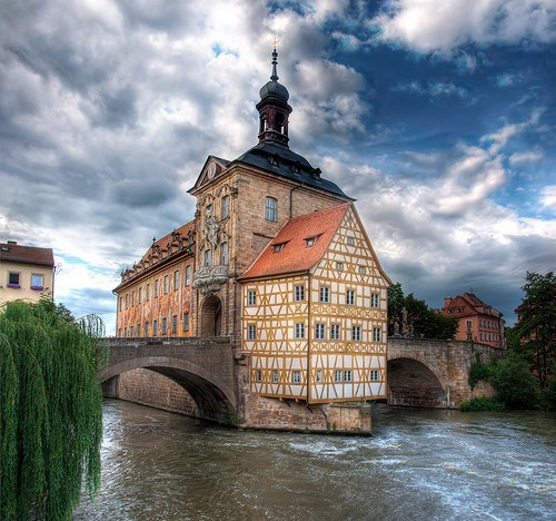 bridge,Germany,Hall of Fame,house,river