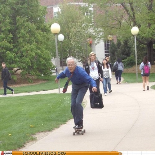 awesome professor skateboarding teachers