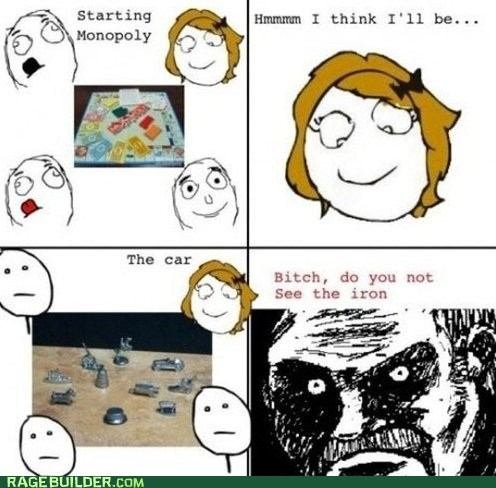 iron,monopoly,Rage Comics,women