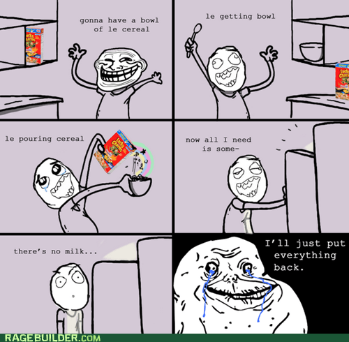 cereal forever alone milk Rage Comics