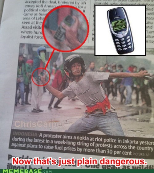 jakarta Memes nokia phone riot - 6070861312