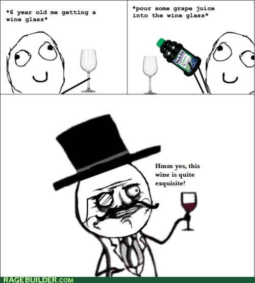 grape juice sir Rage Comics wine - 6070901504